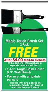 FREE Paint Brushes!