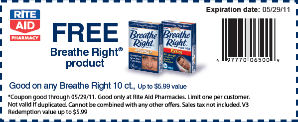 Free Breathe Right Strips @ Rite Aid
