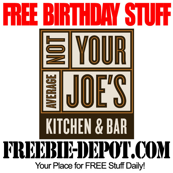 Not your average joe's birthday coupons