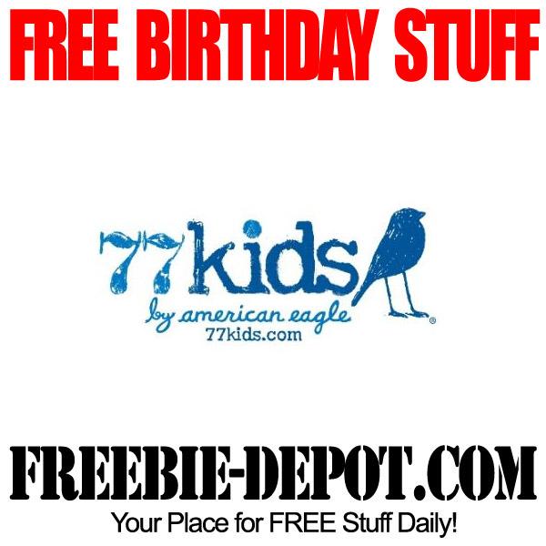 Free Birthday Gift at 77kids