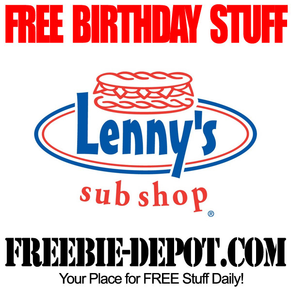 Free Birthday Sub at Lennys