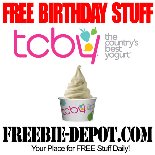 Free BDay Frozen Yogurt @ TCBY