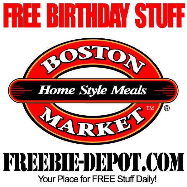 Free Birthday Boston Market