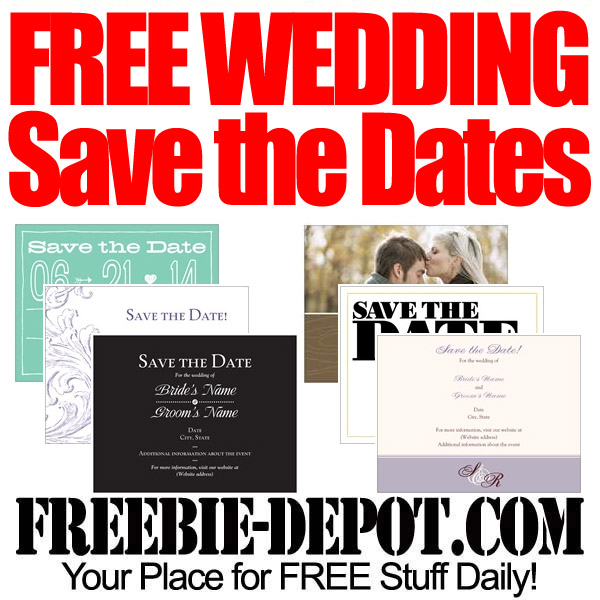 FREE Wedding SaveTheDates – Cheap Wedding Save the Date