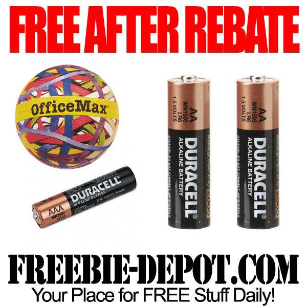 Free After Rebate Batteries AA