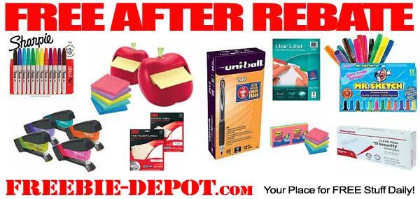 Free After Rebate School Supplies