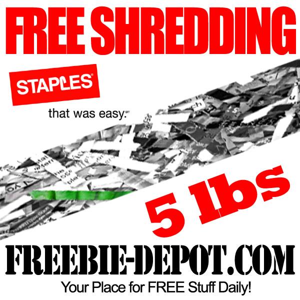 Free Shredding at Staples