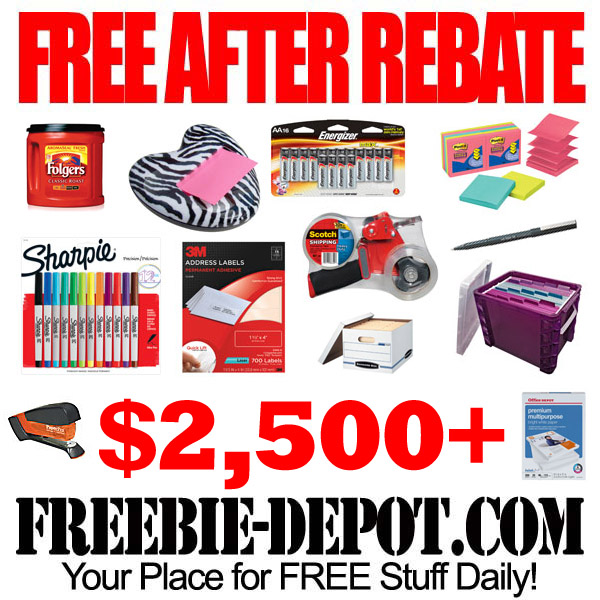 Free After Rebate Mega Office Supplies