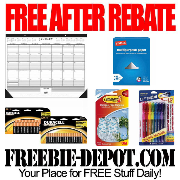 Free After Rebate Staples Stuff