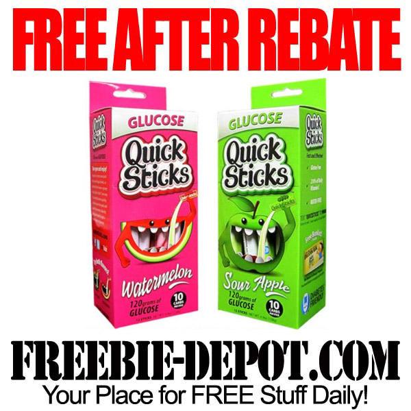 Free After Rebate Glucose Quick Sticks