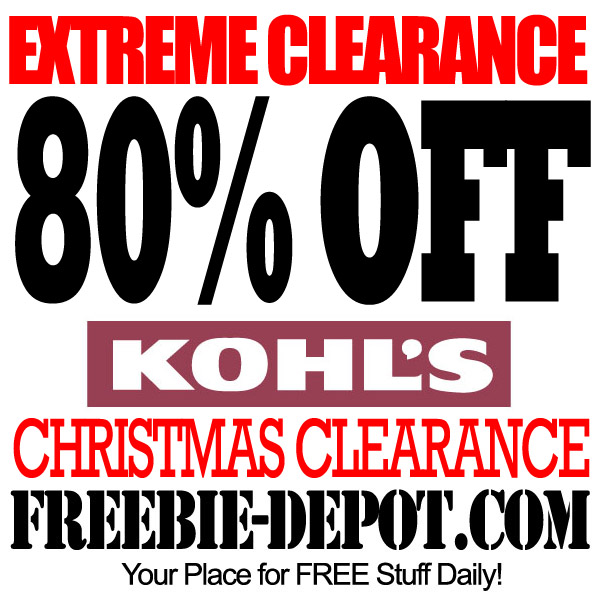 EXTREME CLEARANCE – Kohl's 80% OFF Christmas
