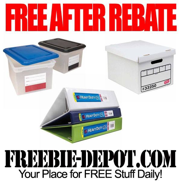 Free After Rebate Storage Boxes