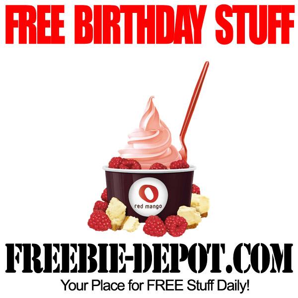 Free Birthday Red Mango Yogurt