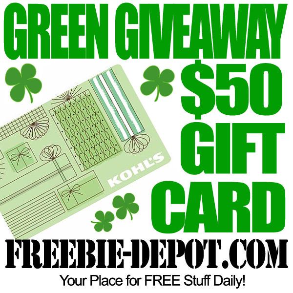 Free Kohls Gift Card Green