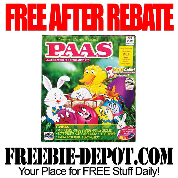 Free After Rebate Easter Egg Color