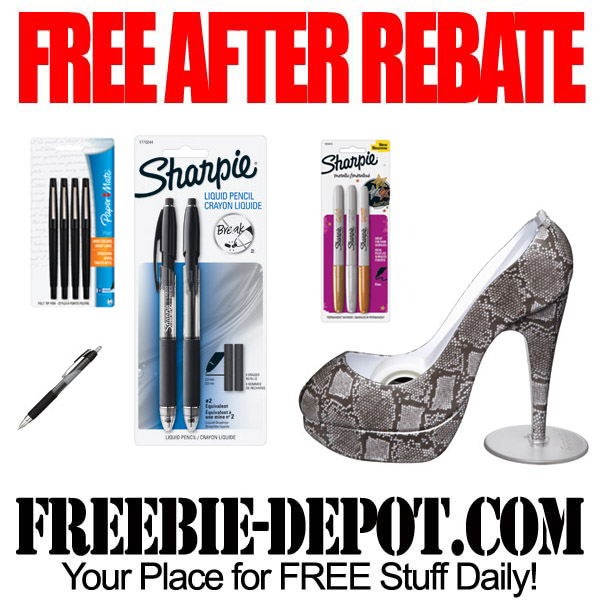 Free After Rebate Pens & Tape Dispenser
