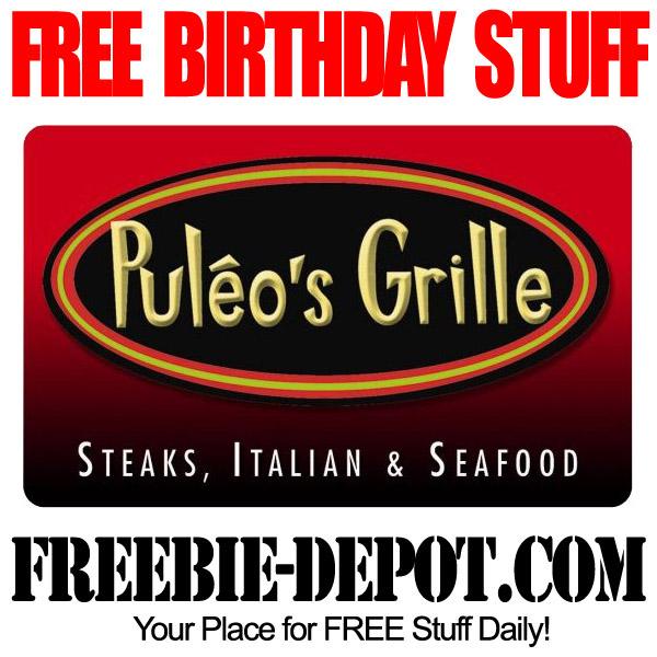 Free Birthday Puleos Grill
