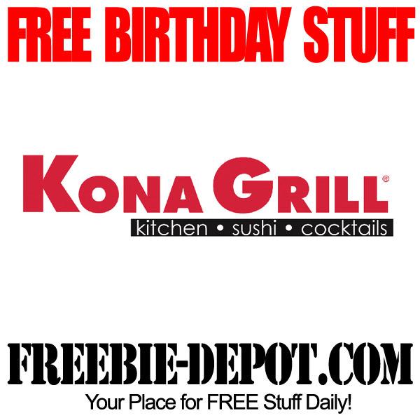 Free Birthday Sushi Kona Grill