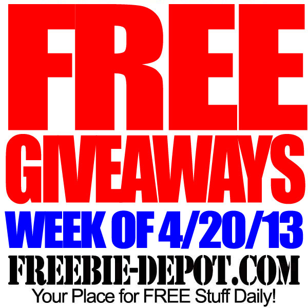 Free Giveaways 4-20-13