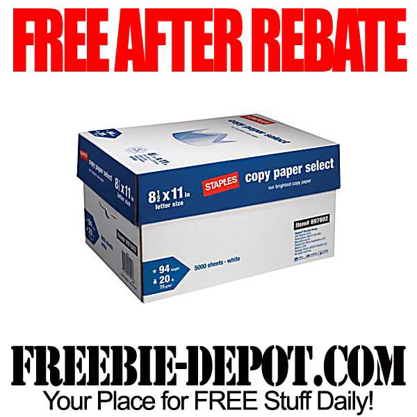 Free After Rebate Case of Paper