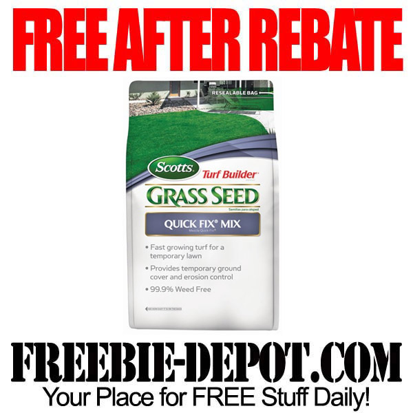 Free After Rebate Grass Seed