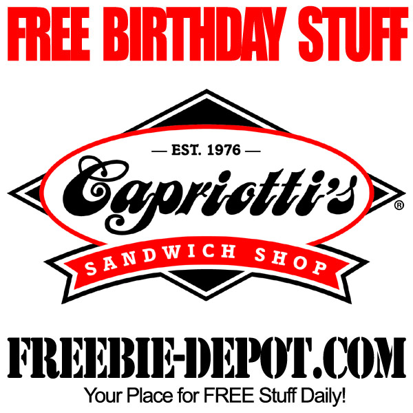Free Birthday Brownie at Capriottis