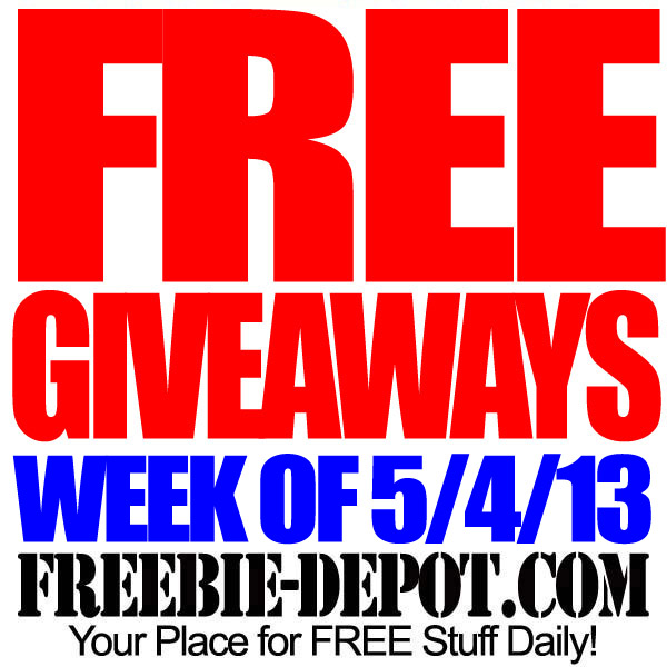 FREE Giveaways – Week of 5/4/13