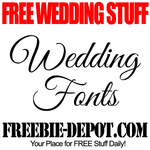 Free Wedding Stuff Fonts